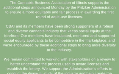 STATEMENT FROM THE CANNABIS BUSINESS ASSOCIATION OF ILLINOIS 9/21/2020